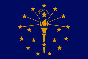 Indiana Gambling Laws State Flag Icon