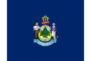Maine Gambling Laws State Flag Icon