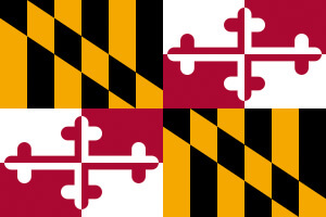 Maryland Gambling Laws State Flag Icon