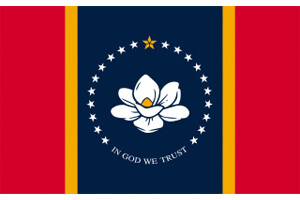 Mississippi Gambling Laws State Flag Icon
