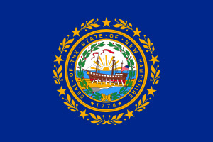 Online Gambling New Hampshire State Flag