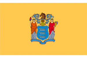 New Jersey Gambling Laws State Flag Icon