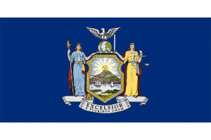 New York Gambling Laws State Flag Icon