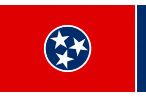 Tennessee Gambling Laws State Flag Icon