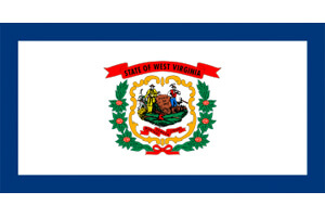 West Virginia Gambling Laws State Flag Icon