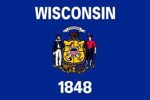 Wisconsin Gambling Laws State Flag Icon