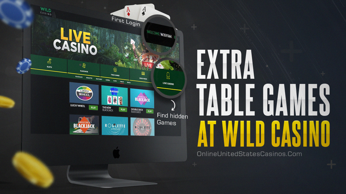 Extra Table Games at Wild Casino