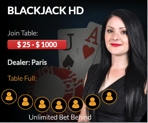 BetUS Casino Live Blackjack