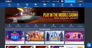 BetUS Online Casino Home Page