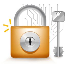 Casino Safety Icon Lock and Key