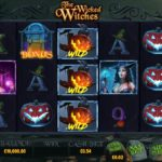 The Wicked Witches Online Slot Game Board
