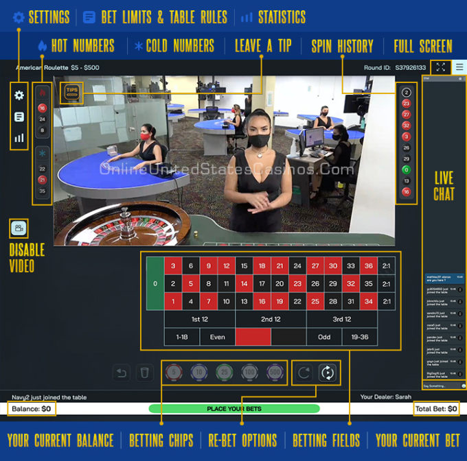 Live Roulette Screen Features Explained