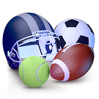 Online Gambling at Sports Betting Sites Football Soccer and Tennis Icon
