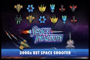 Play Space Invasion at Wild Casino Online