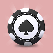 Poker Chip on Pink Background Icon
