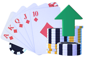 Let It Ride Hand Strategy Royal Flush and Poker Chips