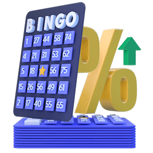 Bingo Card Stack Odds and Probabilities Icon