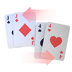 Splitting Pairs Icon with Cards